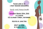 Personalised Coloured Spots Baby Shower Invitations